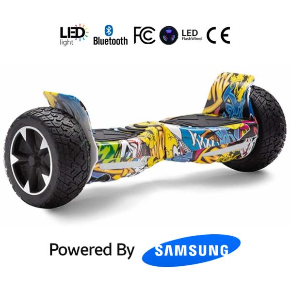 Hip-Hop Graffiti 8.5_ Hummer Off Road Bluetooth Hoverboard
