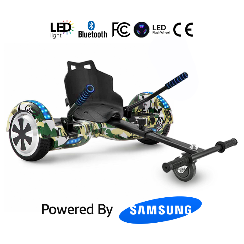 Hoverkart Bundle Army Green 6.5_ Bluetooth Hoverboard