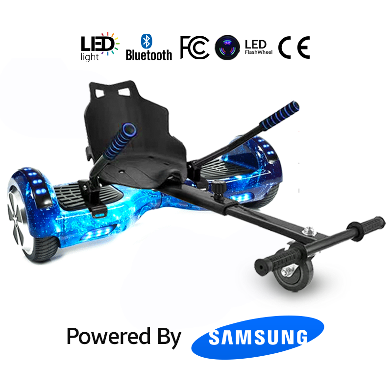 Hoverkart Bundle Blue Galaxy 6.5_ Bluetooth Hoverboard
