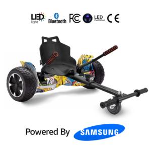 Hoverkart Bundle Hip-Hop Graffiti 8.5_ Hummer Off Road Bluetooth Hoverboard