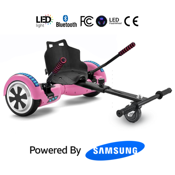 Pink Hoverboard Bundle With Hoverkart