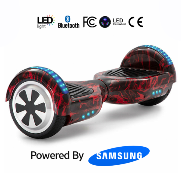 Red Flame 6.5_ Bluetooth Hoverboard