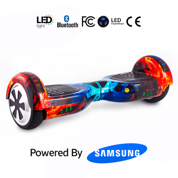 Red Galaxy 6.5_ Bluetooth Hoverboard