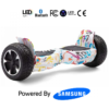 White Mix Flame 8.5_ Hummer Off Road Bluetooth Hoverboard